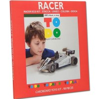 RACER TOY FOR KIDS TO DO, PAINT PLAY IN CARDBOARD