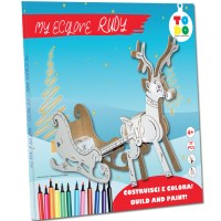 reindeer in cardboard to build and color