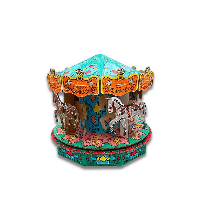 carousel-giostra-cavalli-cartone-colorata