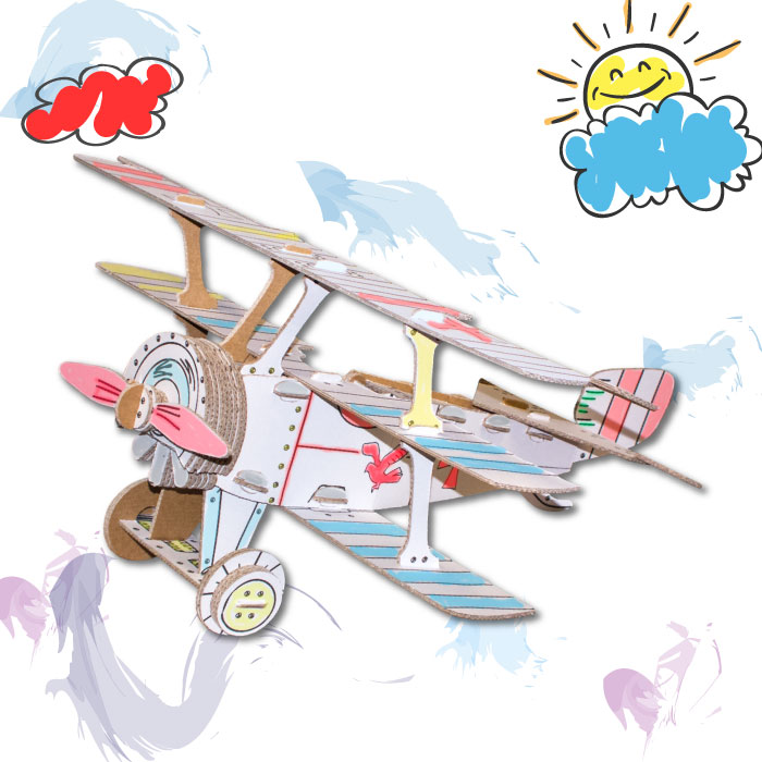 costruire-aereo-cartone-THE-RED-BARON