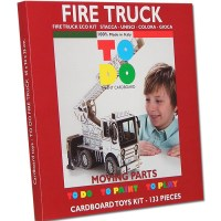 FIRE TRUCK TOY CARDBOARD KIDS