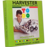 HARVESTER TOYS CARDBOARD TO DO TO PAINT AND TO PLAY