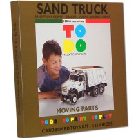 SAND TRUCK TOYS CARDBOARD TO DO TO PAINT TO PLAY