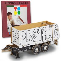 TIPPING TRAILER CARDBOART TO HOOK IN TRACTOR