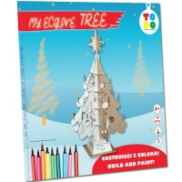 Cardboard Christmas Tree to build and colors